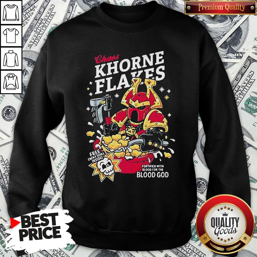 Pretty Chaos Khorne Flakes Fortified With Blood For The Blood God SweatShirt