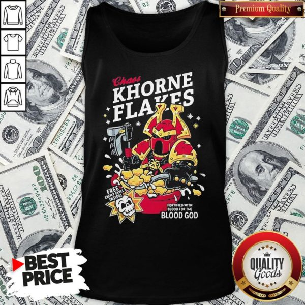 Pretty Chaos Khorne Flakes Fortified With Blood For The Blood God Tank Top