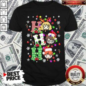 Pretty Harry Potter Ho Ho Ho Christmas Light Shirt