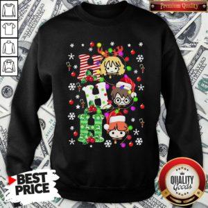 Pretty Harry Potter Ho Ho Ho Christmas Light SweatShirt