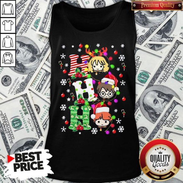 Pretty Harry Potter Ho Ho Ho Christmas Light Tank Top