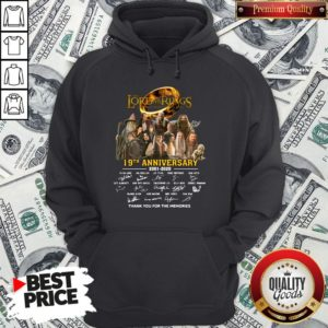 Pretty The Lord Of The Rings 20th Anniversary 2001-2021 Thank You For The Memories Signatures Hoodie