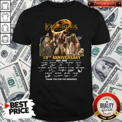 Pretty The Lord Of The Rings 20th Anniversary 2001-2021 Thank You For The Memories Signatures Shirt