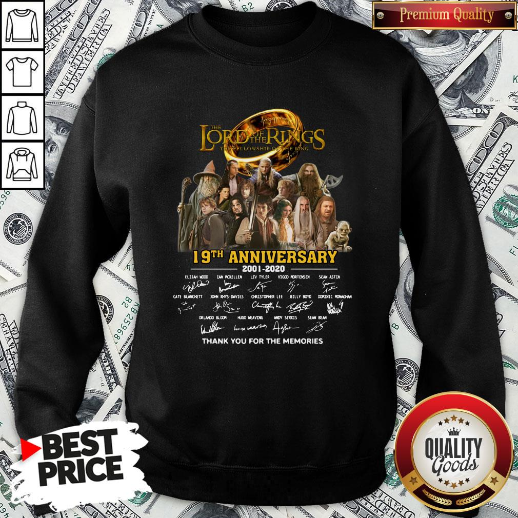 Pretty The Lord Of The Rings 20th Anniversary 2001-2021 Thank You For The Memories Signatures SweatShirt