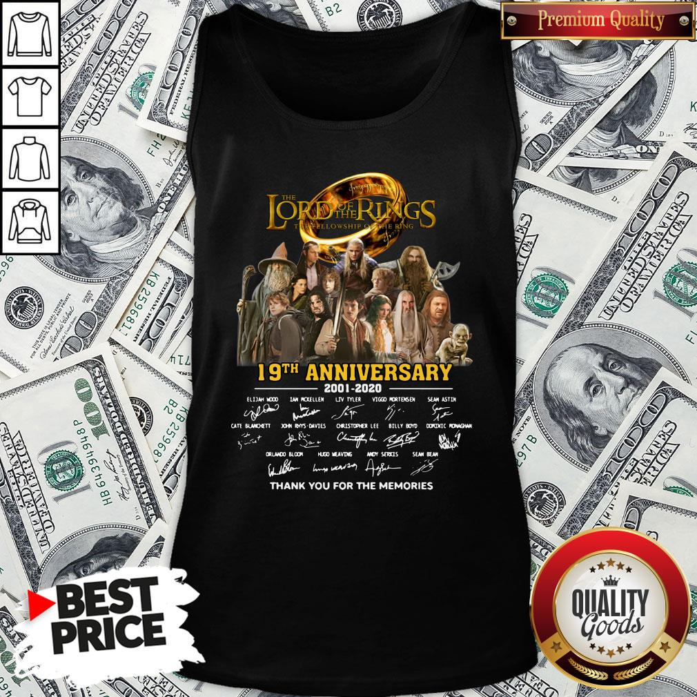 Pretty The Lord Of The Rings 20th Anniversary 2001-2021 Thank You For The Memories Signatures Tank Top
