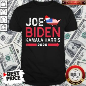 Top Santa Joe Biden Kamala Harris 2020 American Flag Christmas Shirt