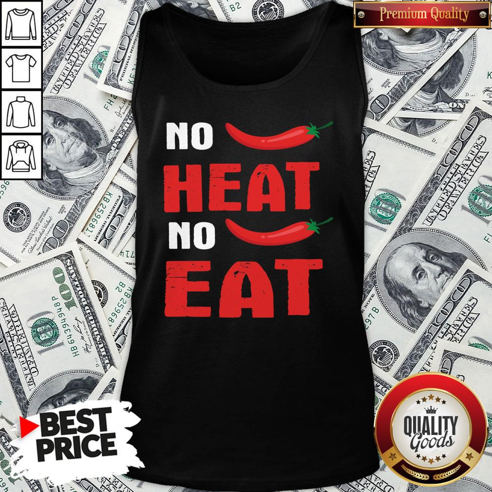 Top Spicy Chili Peppers No Heat No Eat Tank Top