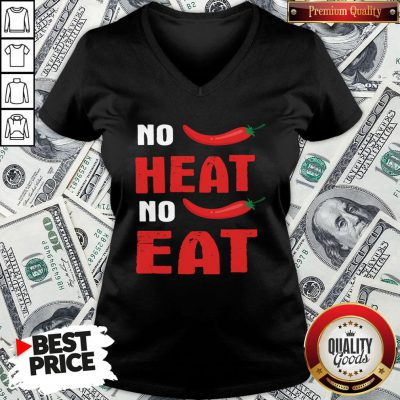 Top Spicy Chili Peppers No Heat No Eat V-neck
