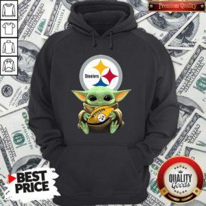 Top Star Wars Baby Yoda Hug Pittsburgh Steelers Hoodie