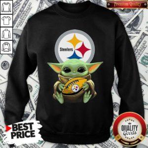 Top Star Wars Baby Yoda Hug Pittsburgh Steelers SweatShirt