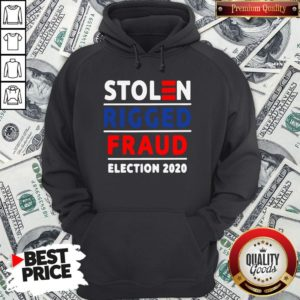 Top Stolen Rigged Fraud Election 2020 Hoodie