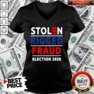 Top Stolen Rigged Fraud Election 2020 V-neck