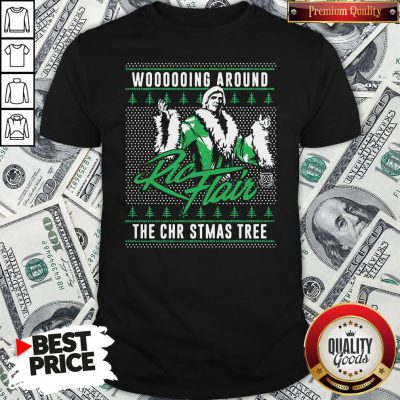 Top Woooooing Around Ugly Faux Knit Ric Flair The Christmas Tree Shirt