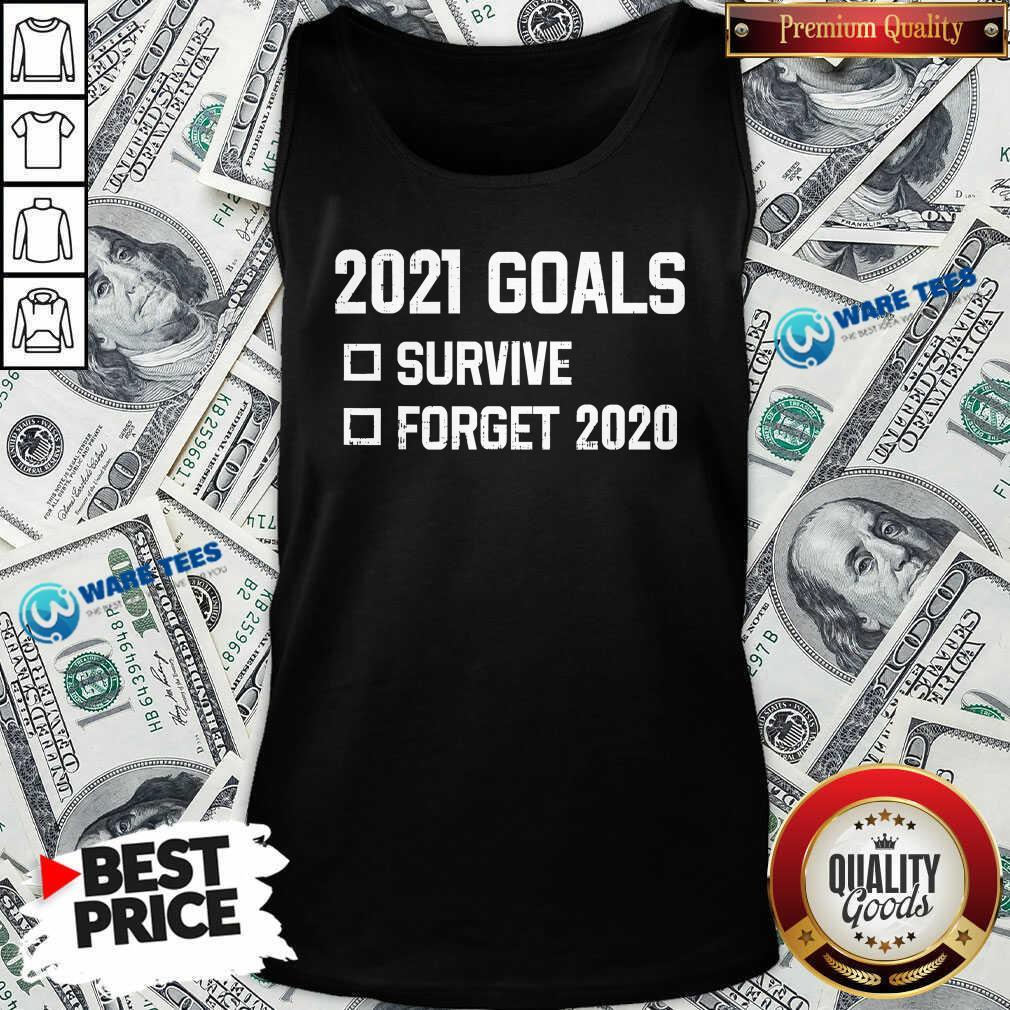 2021 Goal Survive Forget 2020 New Year Quarantine Tank-Top- Design by Waretees.com