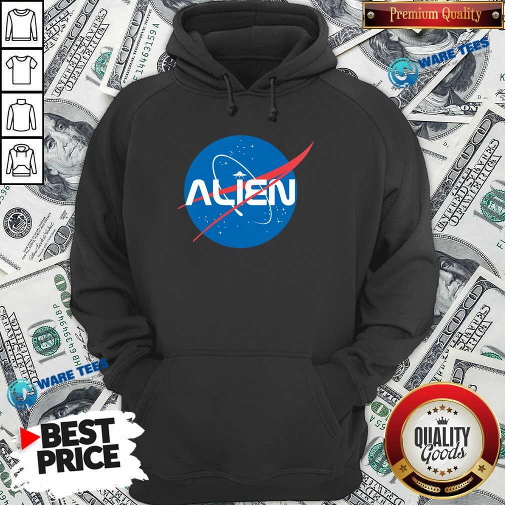 Alien NASA Explorer Hoodie- Design by Waretees.com