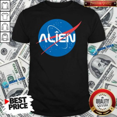 Alien NASA Explorer Shirt- Design by Waretees.com