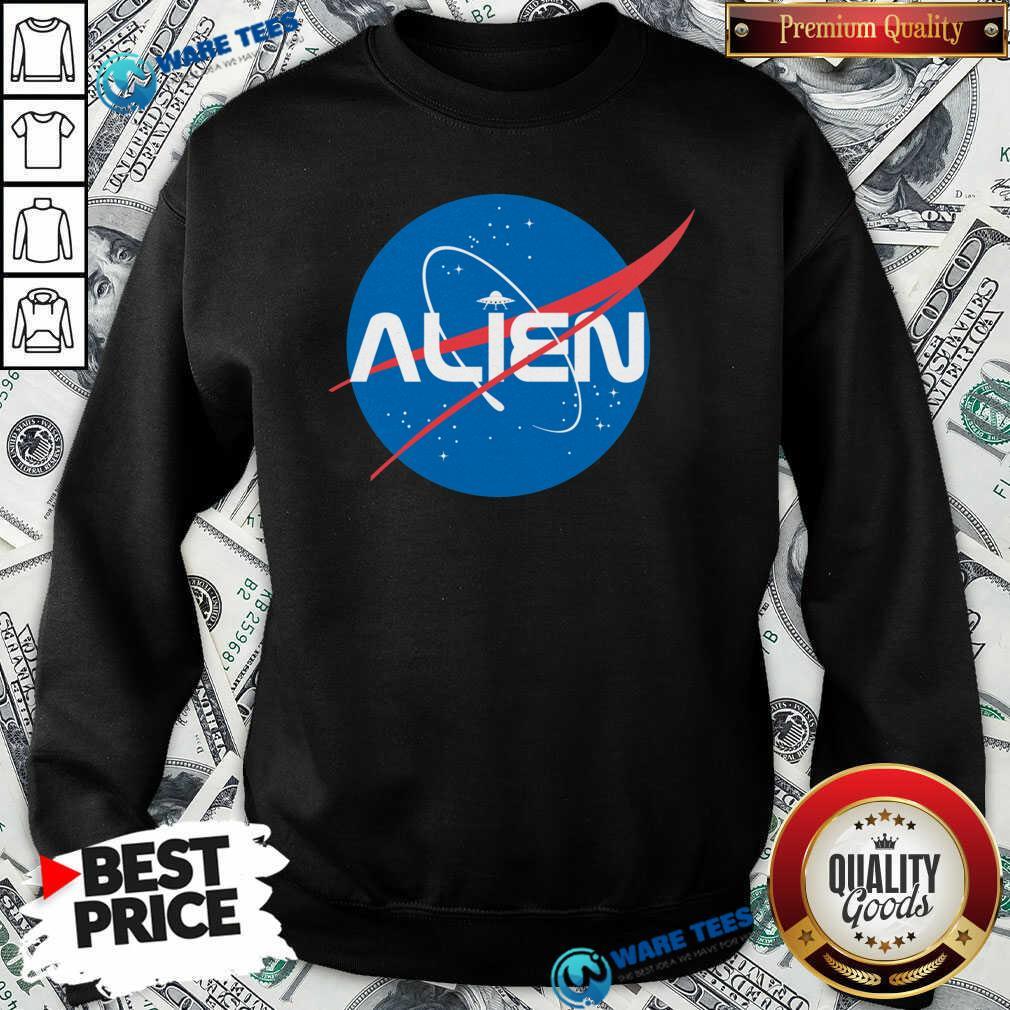 Alien NASA Explorer Sweatshirt- Design by Waretees.com