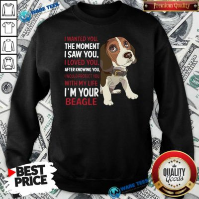 Beagle Wanted I Wanted You The Moment I Saw You I Loved You After Knowing You Sweatshirt- Design By Waretees.com