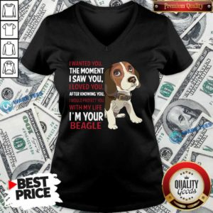 Beagle Wanted I Wanted You The Moment I Saw You I Loved You After Knowing You V-neck Design By Waretees.com