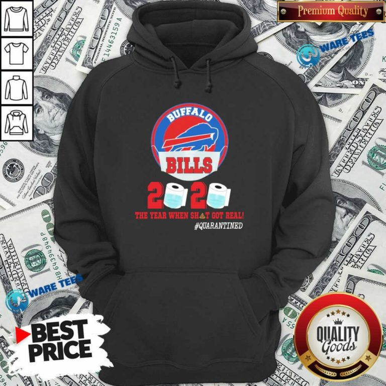 Buffalo Bills Face Mask 2020 Toilet Paper The Year When Shit Got Real #Quarantined Hoodie- Design by Waretees.com