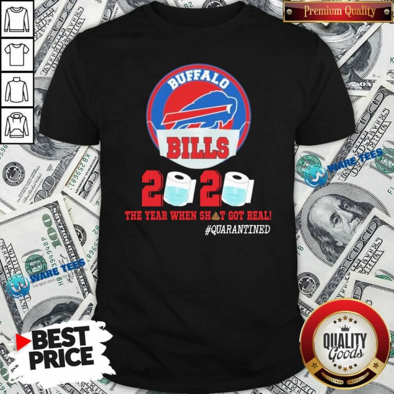 Buffalo Bills Face Mask 2020 Toilet Paper The Year When Shit Got Real #Quarantined Shirt- Design by Waretees.com