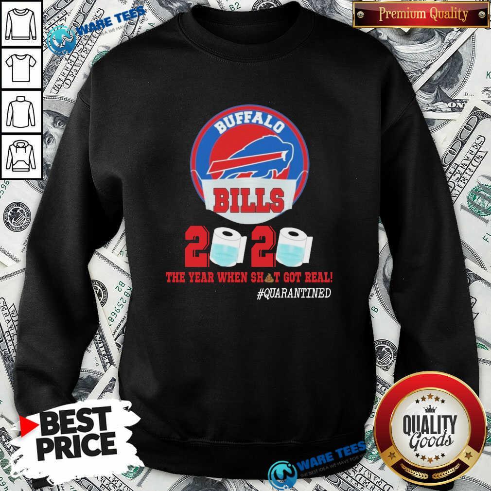 Buffalo Bills Face Mask 2020 Toilet Paper The Year When Shit Got Real #Quarantined Sweatshirt- Design by Waretees.com