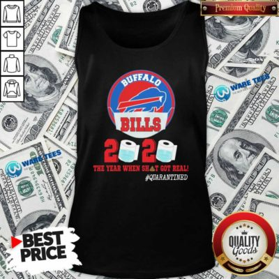 Buffalo Bills Face Mask 2020 Toilet Paper The Year When Shit Got Real #Quarantined Tank-Top- Design by Waretees.com