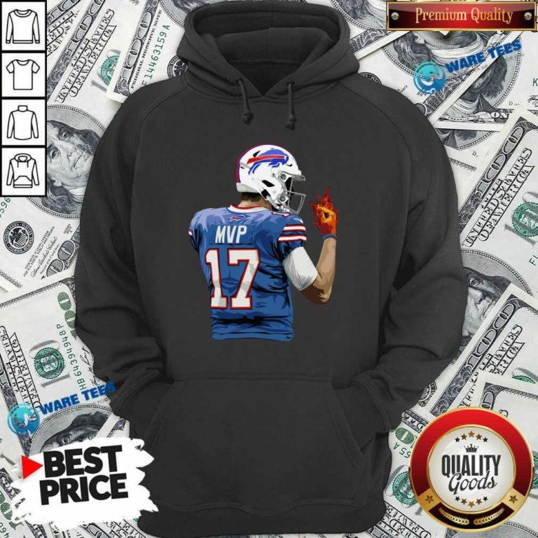 Buffalo Bills Josh Allen Hot Hand Hoodie- Design by Waretees.com