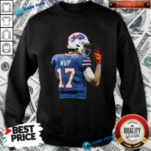 Buffalo Bills Josh Allen Hot Hand Sweatshirt- Design by Waretees.com
