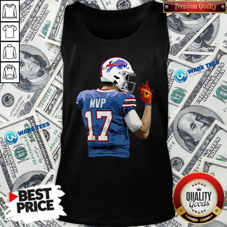 Buffalo Bills Josh Allen Hot Hand Tank-Top- Design by Waretees.com