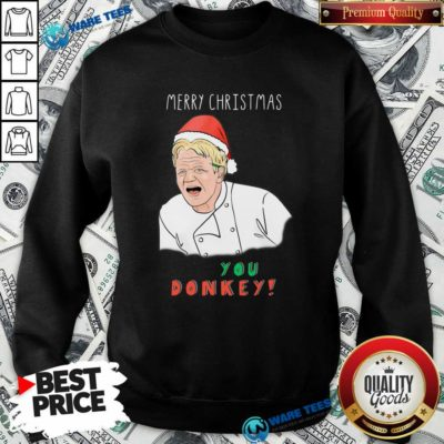 Awesome Chef You Donkey Merry Christmas Sweatshirt - Design by Waretees.com