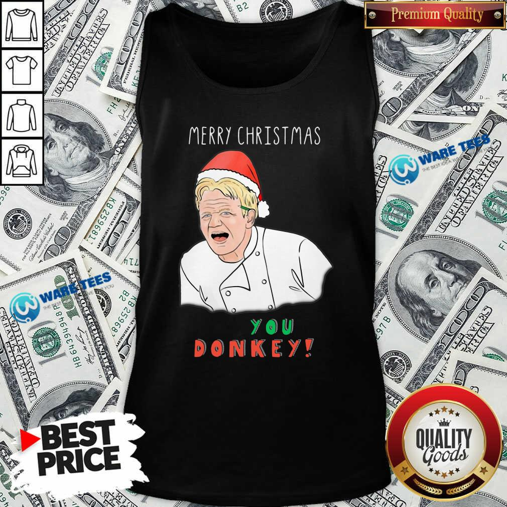 Awesome Chef You Donkey Merry Christmas Tank Top - Design by Waretees.com