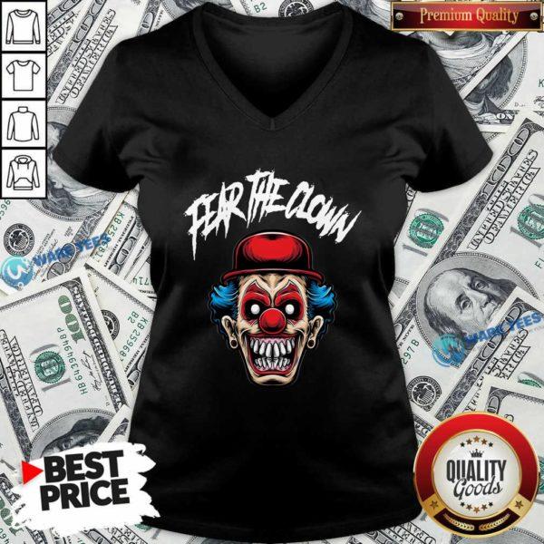 Fear The Clown V-neck- Design by Waretees.com