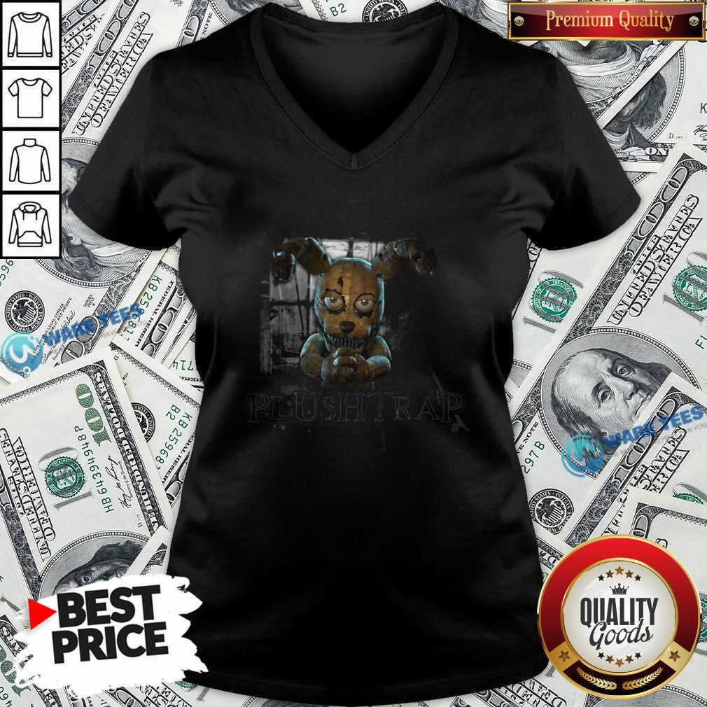 Fnaf Ar Merch Store Hello My Friend Plushtrap V-neck- Design by Waretees.com