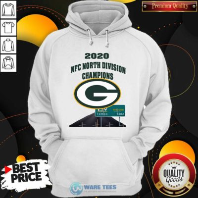 Green Bay Packers 2020 Nfc North Division Champions Tampa Hoodie- Design by Waretees.com