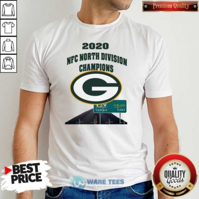 Green Bay Packers 2020 Nfc North Division Champions Tampa Shirt- Design by Waretees.com