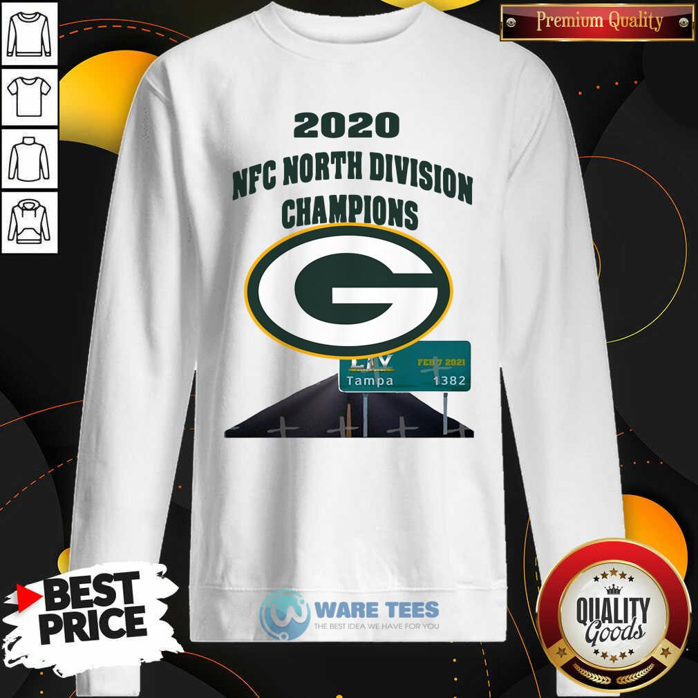 Green Bay Packers 2020 Nfc North Division Champions Tampa Sweatshirt- Design by Waretees.com