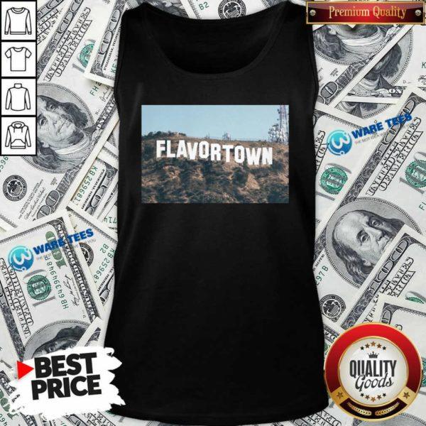 Guy Fieri Merch Flavortown Sign Tank-Top- Design by Waretees.com