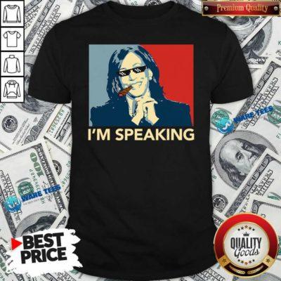 Awesome I'm Speaking Funny Kamala Harris Thug Biden 2020 Shirt - Design by Waretees.com