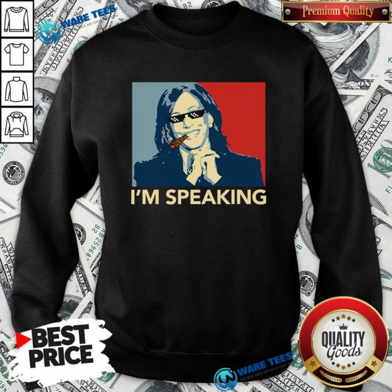 Awesome I'm Speaking Funny Kamala Harris Thug Biden 2020 Sweatshirt - Design by Waretees.com