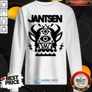 Awesome Jantsen Merch Monster Sweatshirt - Design by Waretees.com