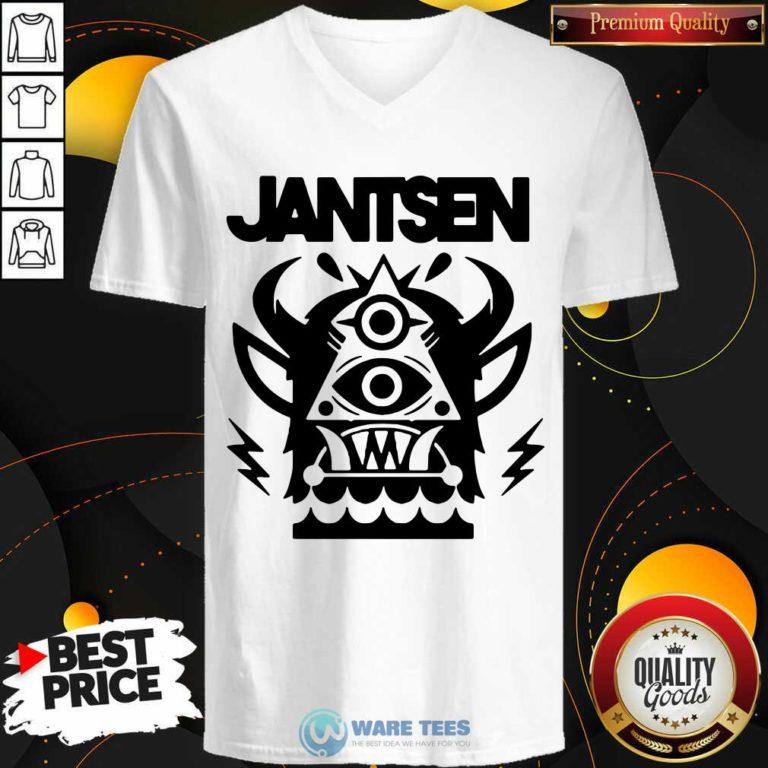 Awesome Jantsen Merch Monster V-neck - Design by Waretees.com