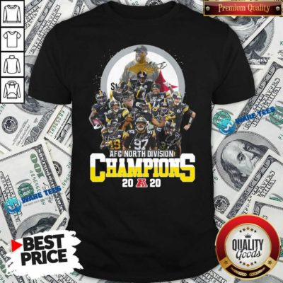 Pittsburgh Steelers 2020 Afc North Division Champions Signatures 2020 Shirt- Design By Waretees.com