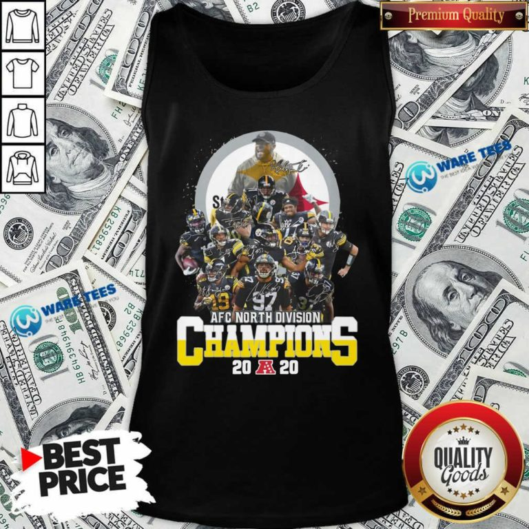 Pittsburgh Steelers 2020 Afc North Division Champions Signatures 2020 Tank-Top- Design By Waretees.com