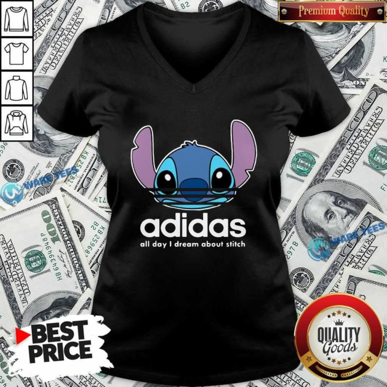 Awesome Stitch Adidas All Day I Dream About Titch V-neck - Design by Waretees.com