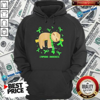 Sloth Lymphoma Awareness Hoodie- Design by Waretees.com