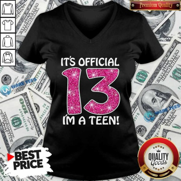 Awesome Teenager 13Th Birthday Gift 2007 13 Years Old Girls V-neck - Design by Waretees.com
