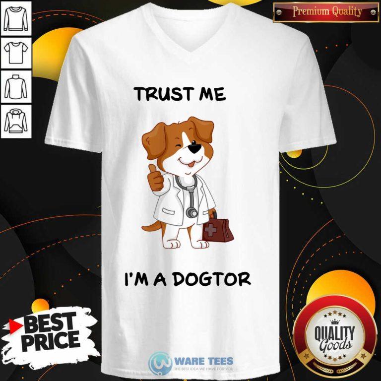 Trust Me I'm A Doctor V-neck- Design by Waretees.com