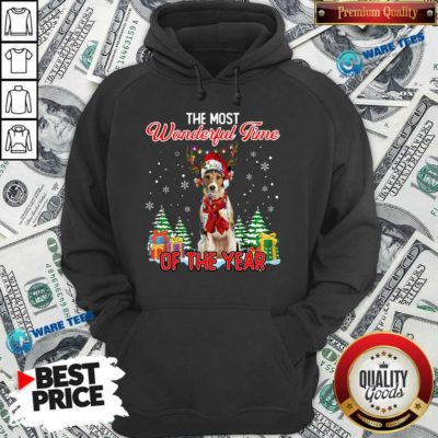 Awesome Wire Fox Terrier The Most Wonderful Time Of The Year Christmas Hoodie- Design by Waretees.com