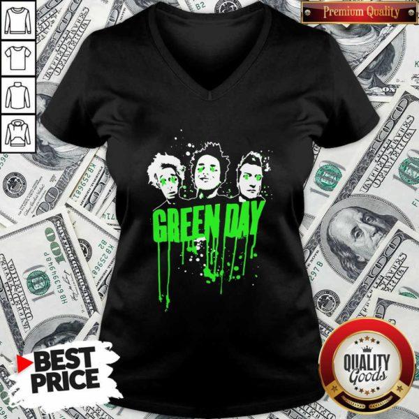 Green Day Team V-neck - Design By Waretees.com